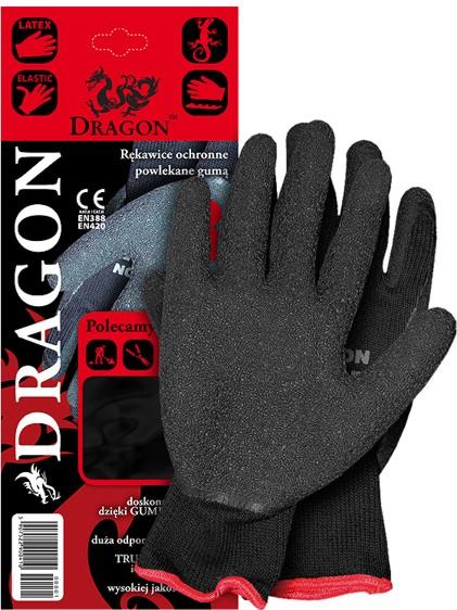 90361d7f607824 Rękawice DRAGON powlekane gumą, cena: 2.75 zł - rękawice robocze dragon